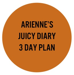Arienne's juicy journey story. 3 Day Plan. Asthma, pet allergy