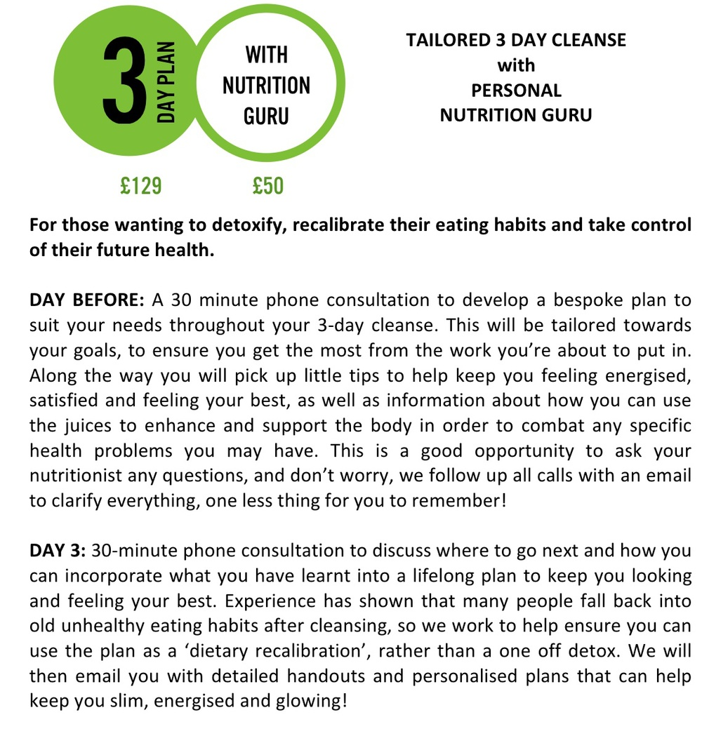 3 Day Plan with Nutrition guru