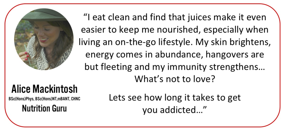 Alice Mackintosh, Lynsey Mentier, Why we juice Nutrition Guru, Juice Experts