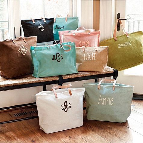 How cute are these Ballard Design totes! This is a perfect idea for your bridesmaids to carry their stuff during wedding activities and even to use anytime after! Best part is these are on sale right now! It's a steal for such an adorable tote! Click here to buy it now!
