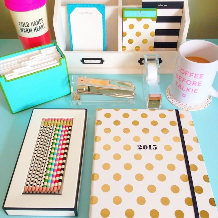 Kate Spade Desk Accessories: Shop here now! You can even personalize some stationery for each individual bridesmaids style because what's cuter than getting some stationery with something like your monogram on it! I've linked here some stationery from Zazzle.com. There's so many options to choose from you'll be in heaven!