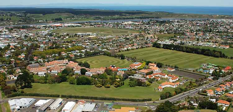 Wanganui Collegiate School campus aerial view