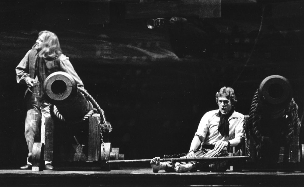 Russell as Billy Budd at Welsh National Opera - 1978 with Frank Oligario as Dansker.