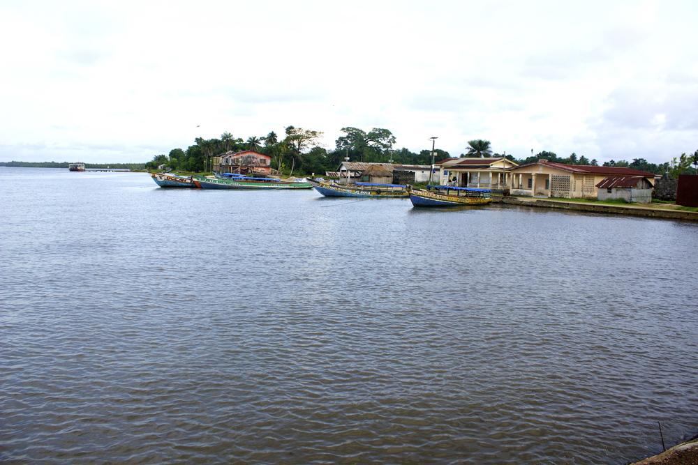 Bonthe Island - the dock, Sierra Leone