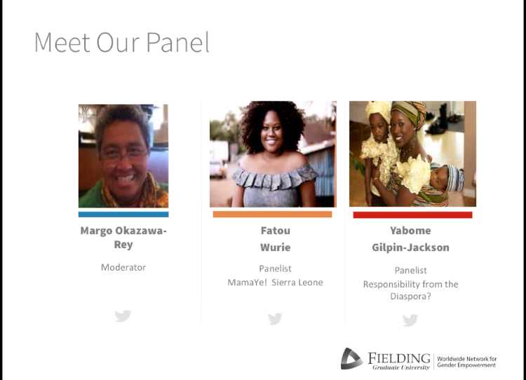 Panelist on World Wide Network for Women's EmpowermentFielding Graduate University -
