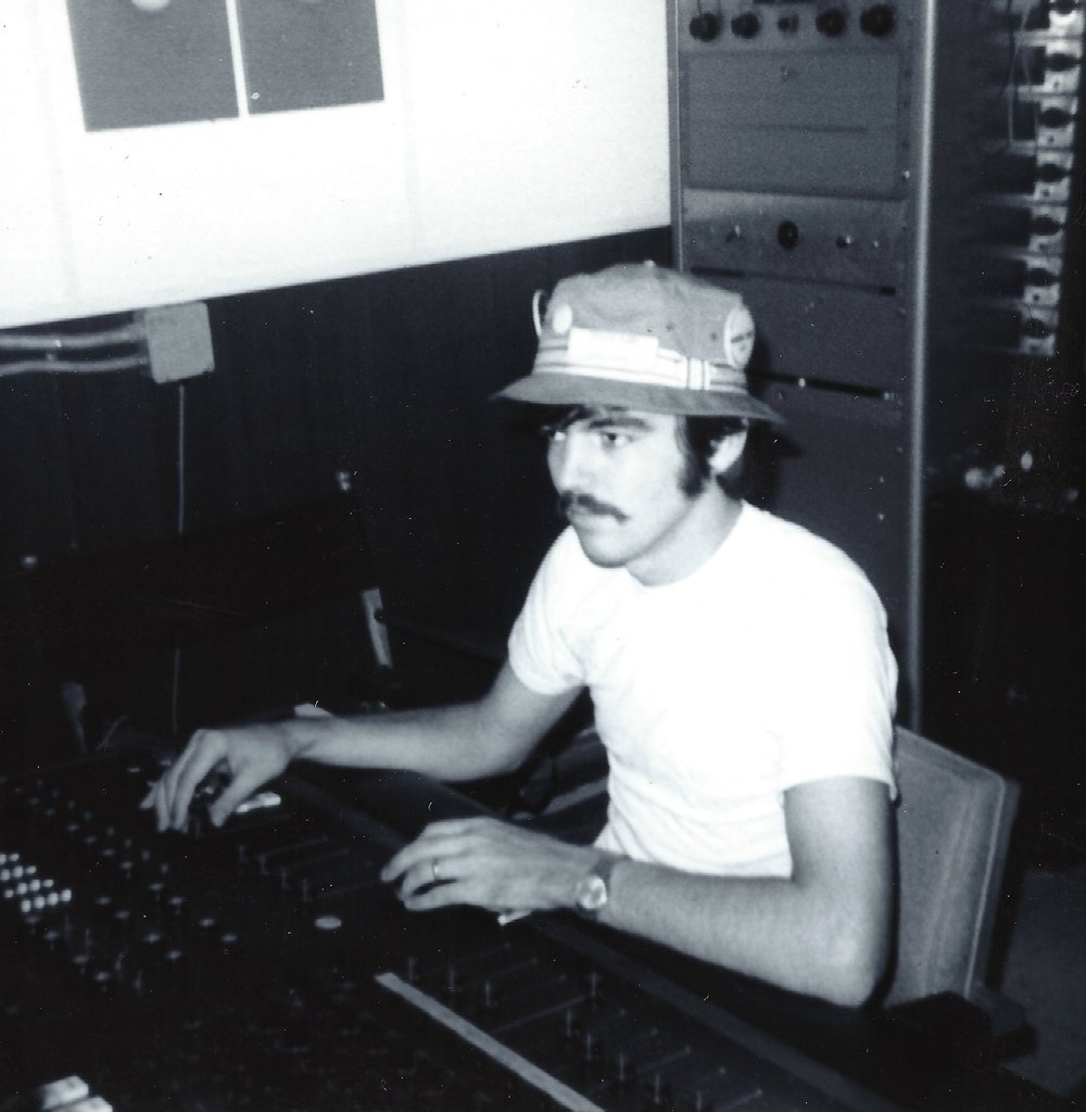 Engineer Travis Turk in the original control room during the early days.