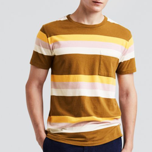 a12ee0f359c7 Levi s Made   Crafted Pocket Tee in Breen Stripe — Aggregate Supply