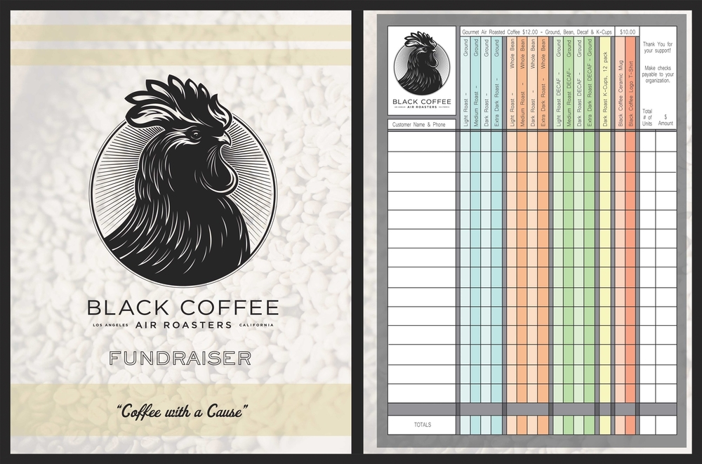 The Black Coffee Fundraising Brochure is easy for all ages to use.