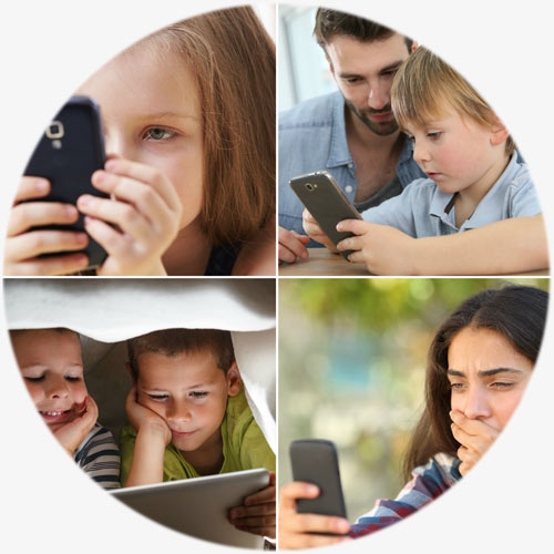 Protect Young Eyes - DEFENDING YOUR KIDS FROM ONLINE DANGERSPROTECT KIDSProtect as many young and teen eyes as possible from the dangers lurking in Internet-ready devices.EXPLAIN RISKSExplain the purpose, risks and parental controls for the different apps and games used by kids today.TEACH PREVENTIONTeach parents how to use filtering, monitoring, and intentional conversation to prevent harmful exposures.