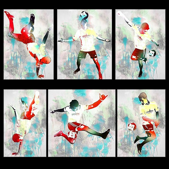 Turning photos into watercolor/illustrations. Futboleros for Video Whip @rickmayelian