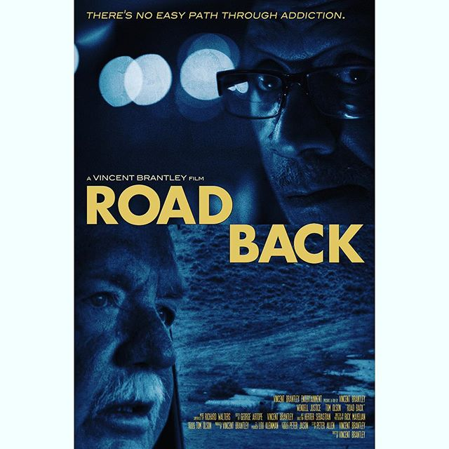 Key art for @vincetheboss10's documentary @roadbackfilm