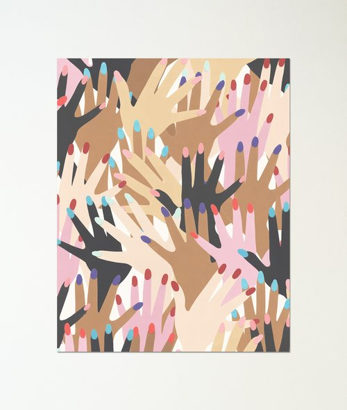 Kate Zaremba - Gettin Handsy Print