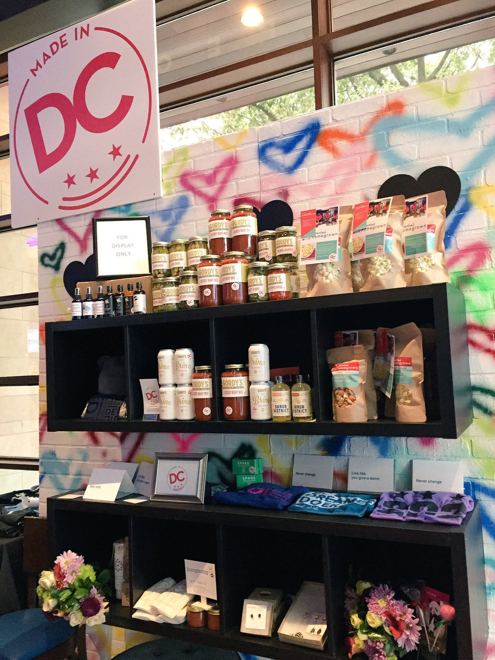 Made in DC product wall