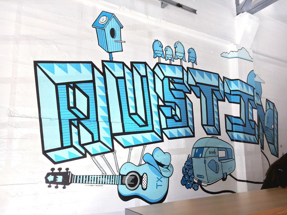 Mural at Google Fiber HQ