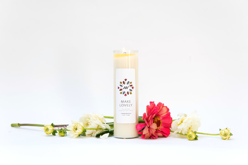 Make Lovely Mantra Candle