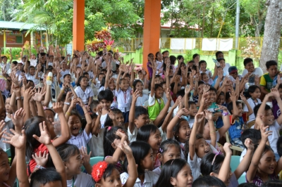 A photo taken from our Dental Education outreach at a local school.