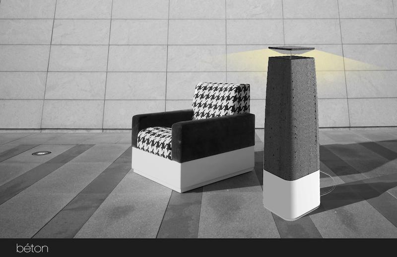 Béton floor lamp