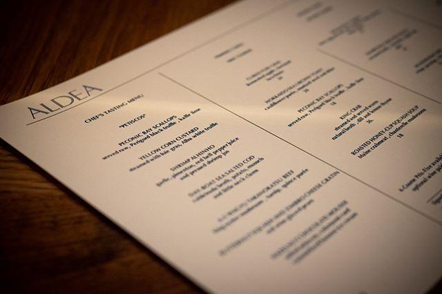 Aldea serves dinner Tuesday through Saturday night, with three distinct dining options: a la carte, prix fixe, or the chef's tasting menu