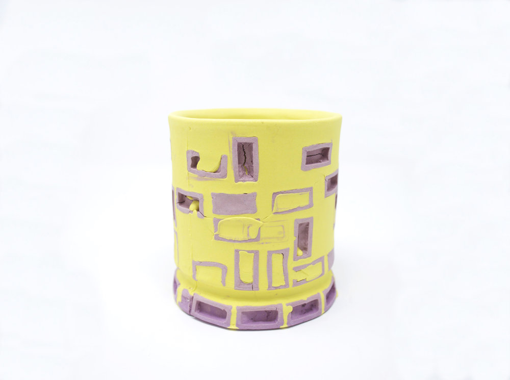 Mini-Brickware Cup (Purple & Yellow)