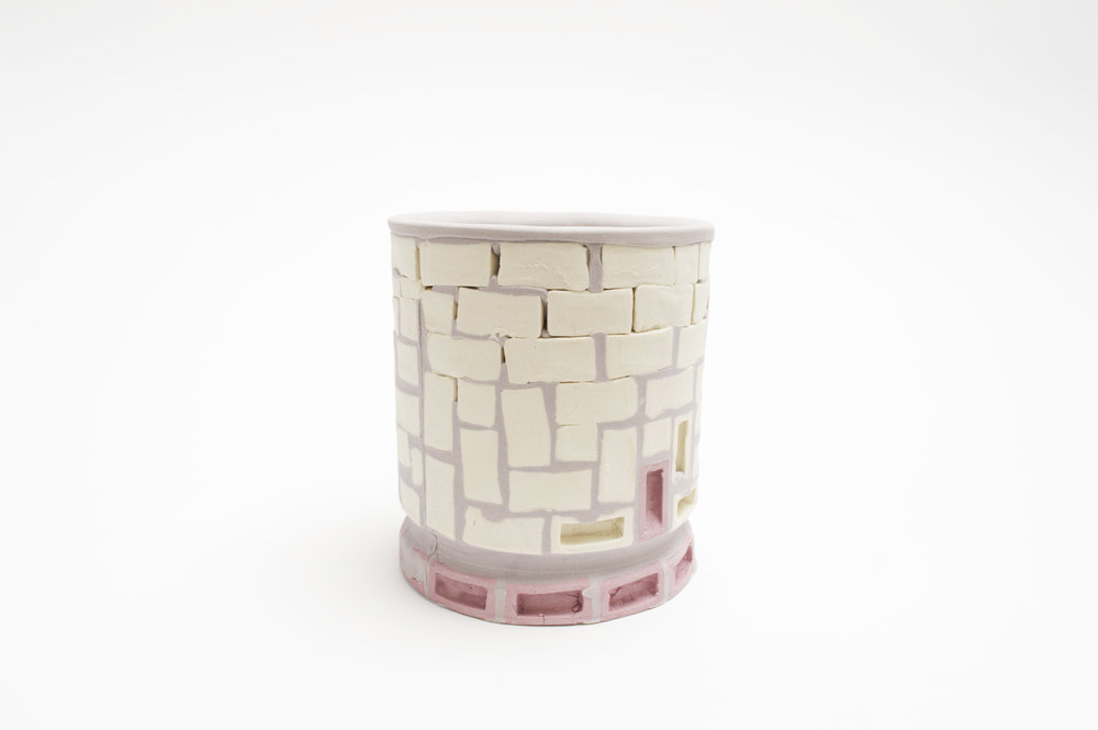 Mini-Brickware Cup (White-Lavender-Purple)