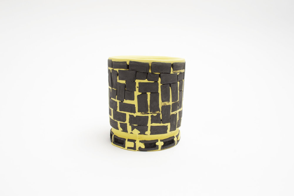 Mini-Brickware Cup (Black & Yellow)