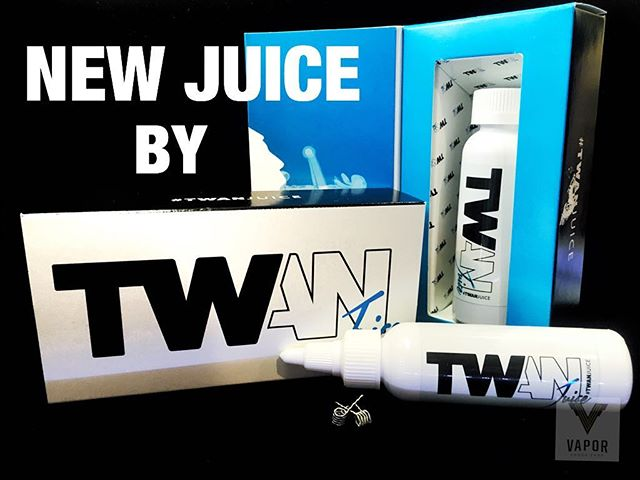 New juice here at Vapor!  Trick like a boss with @twanjuice Comes with pre-built alien claptons and a fresh pad of Japanese cotton!