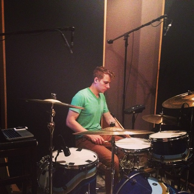Tracking drums today with @jfox815. The man, the myth.