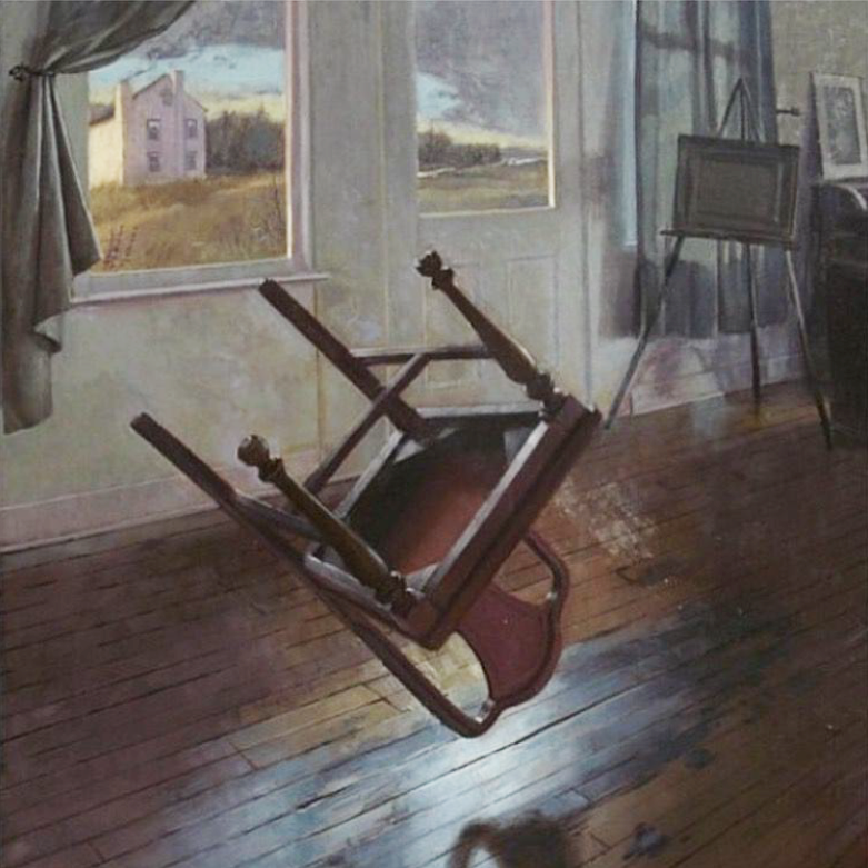"""The House by the River Lethe, Richard T Scott, Oil on Linen, 22""""x28"""""""