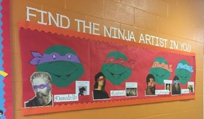 Ninja Turtle Artists.JPG