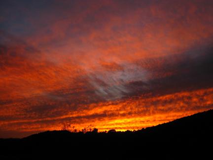 Sunset on Cobbler Mountain in Bath, VA.