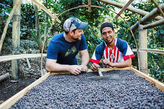 "There's a lot of things I love about being in coffee. One of the best things and, for me, most rewarding, is the connections with our farm workers. I don't just love the coffee and the process, but I love our people! I love making an impact in their lives, supporting them and helping them reach new goals. This is our ""why"". And with your help our work continues and we keep changing the lives of our workers. What's your ""why""? ... Photo cred: @jacoblacey @chromaticcollective ... #coffee #coffeeshots #coffeetime #coffeesesh #dailycoffeenews #alternativebrewing #manmakecoffee #mountains #elsalvador #fincalafamilia #farmerslife #farmdirect #specialtycoffee #upwithcoffee #beyondthecup #caffineaddict #cherries #instcoffee #youdrinkfarmersthrive #perfectdailygrind #directtrade #farmtocup"