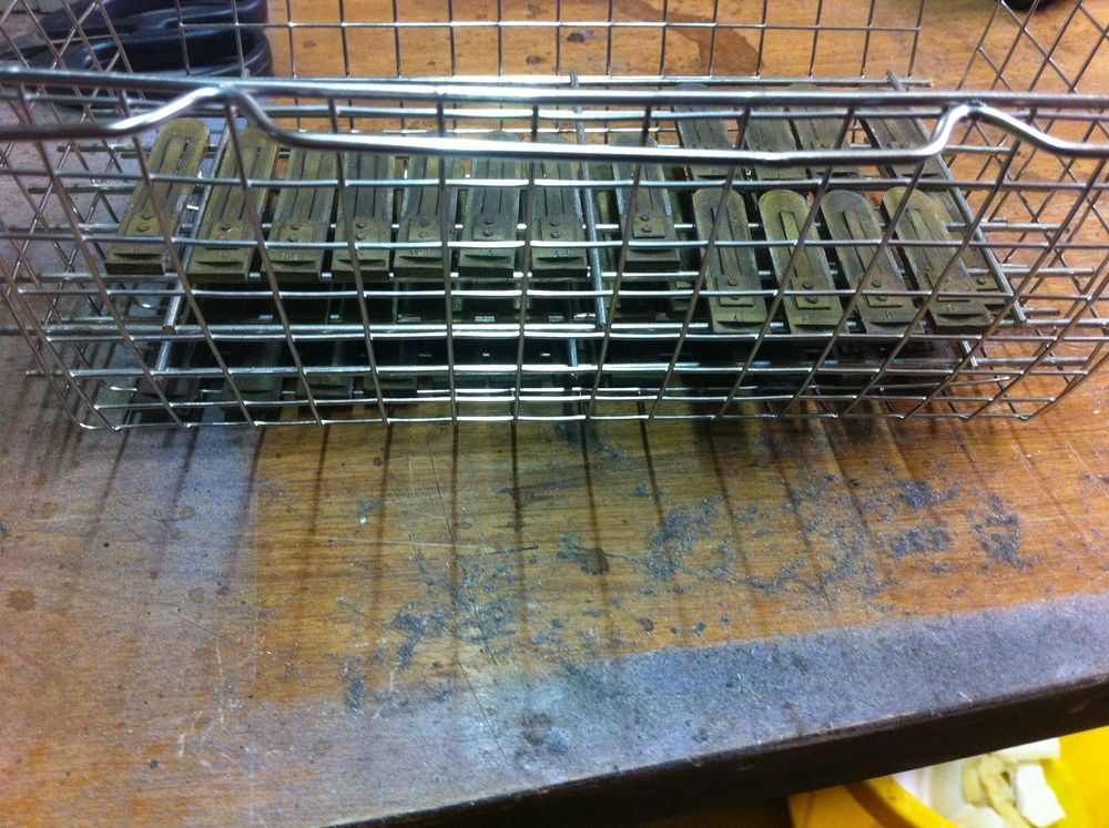 Reeds in ultrasonic cleaner basket