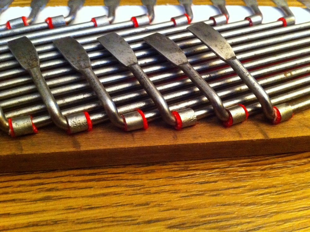 Bass coupler with some new brass retaining clips