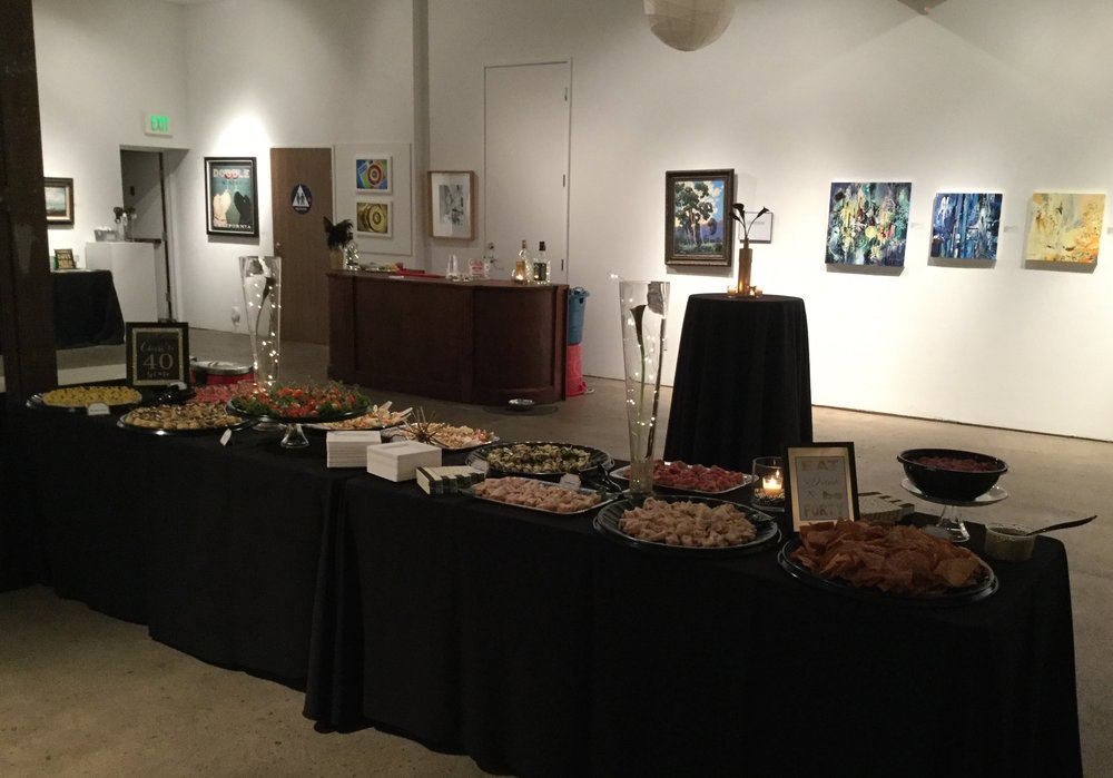 40th Birthday   Venue:  The Liberty Art Gallery & Event Space, Long Beach   Over The Moon Package:  Full Design, Planning, & Coordination