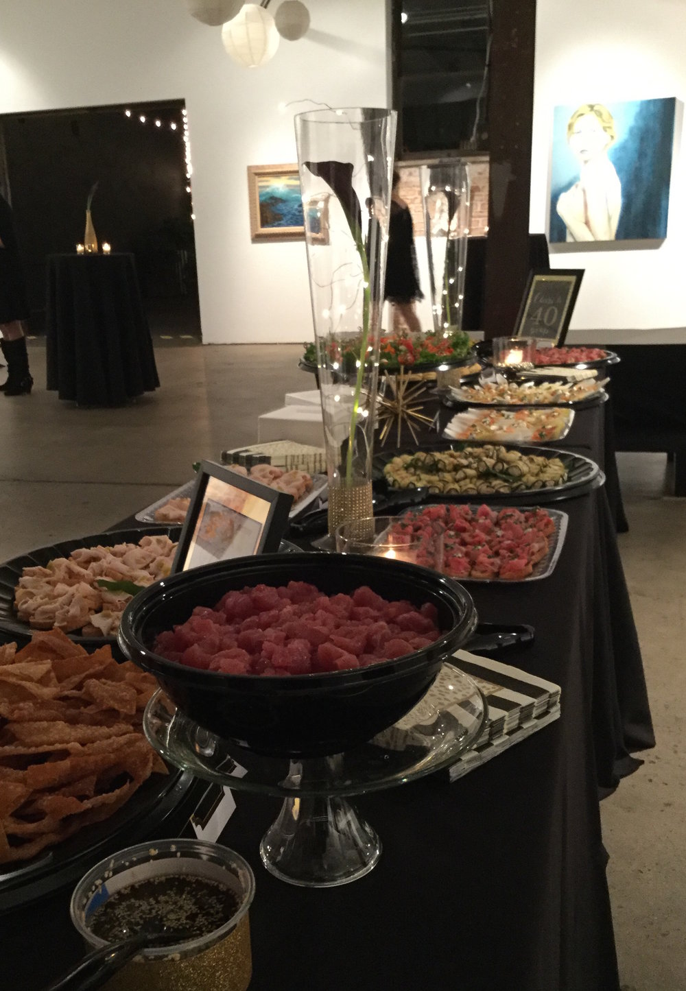 40th Birthday   Venue:  The Liberty Art Gallery & Event Space, Long Beach   Catering:  Olive Gourmet Grocer   Over The Moon Package:  Full Design, Planning, & Coordination