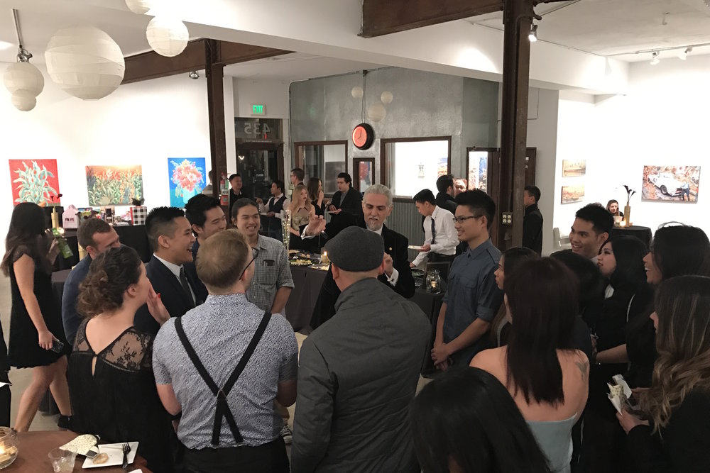 40th Birthday   Venue:  The Liberty Art Gallery & Event Space, Long Beach   Illusionist:  Georges-Robert   Over The Moon Package:  Full Design, Planning, & Coordination