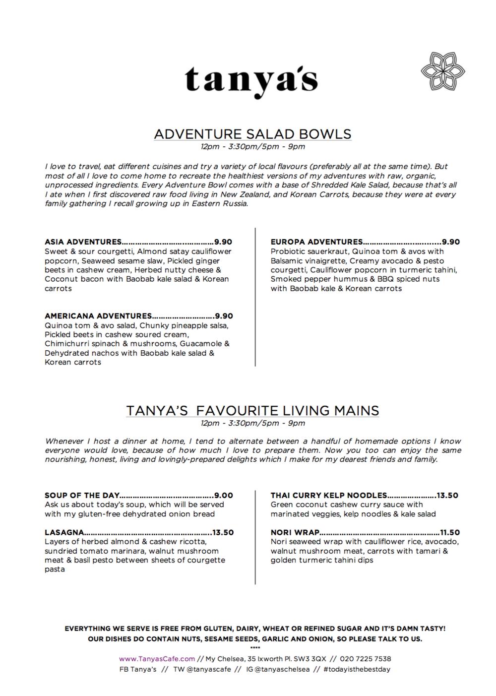 tanya's raw food menu 3