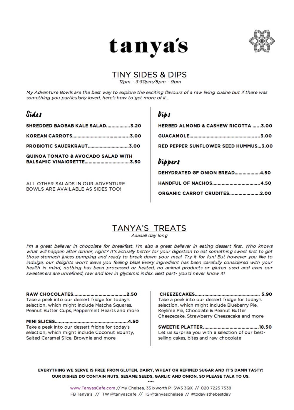 tanya's raw food menu 4