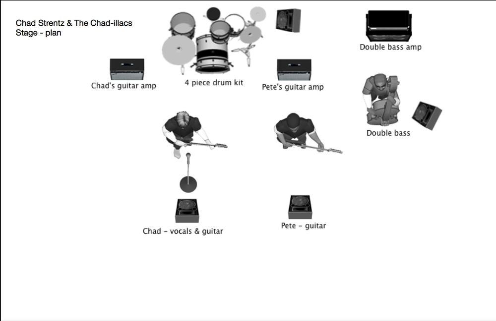 Chad-illacs Stage Plan