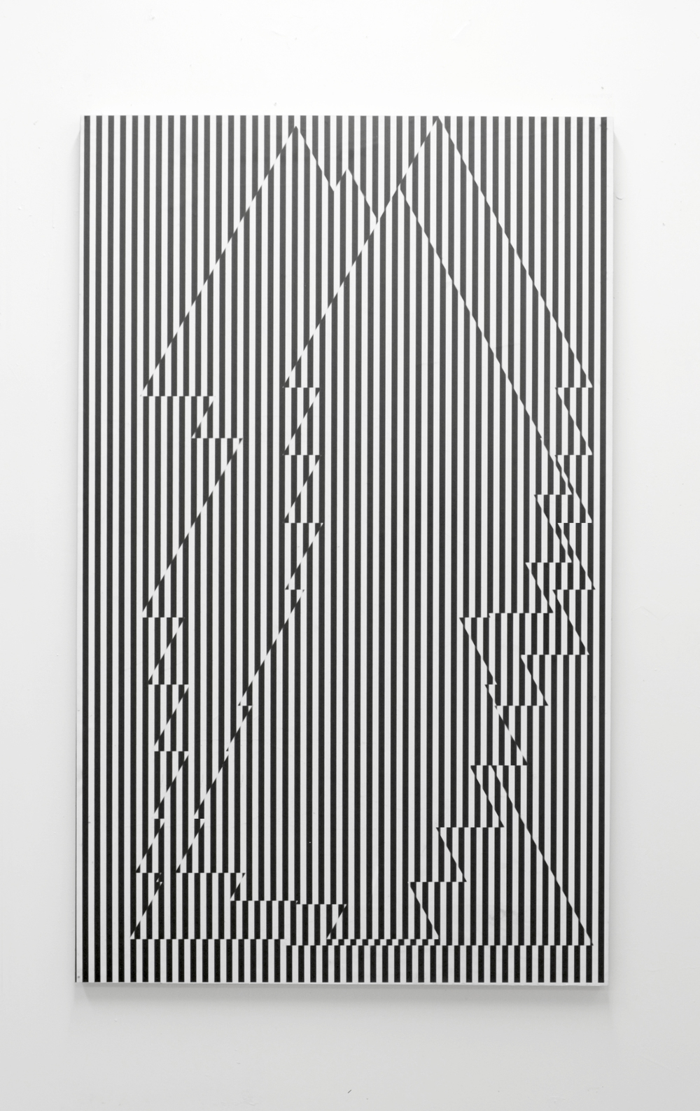 "Interstice Acrylic on panel 36"" x 57"""
