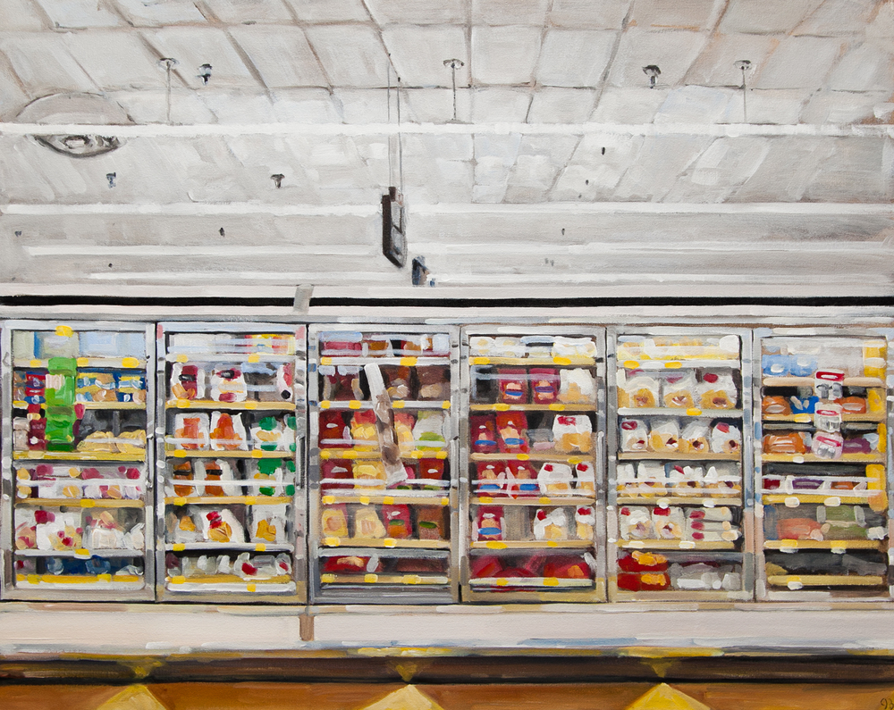 Frozen Foods, Acrylic on Canvas, 24 x 30 in.
