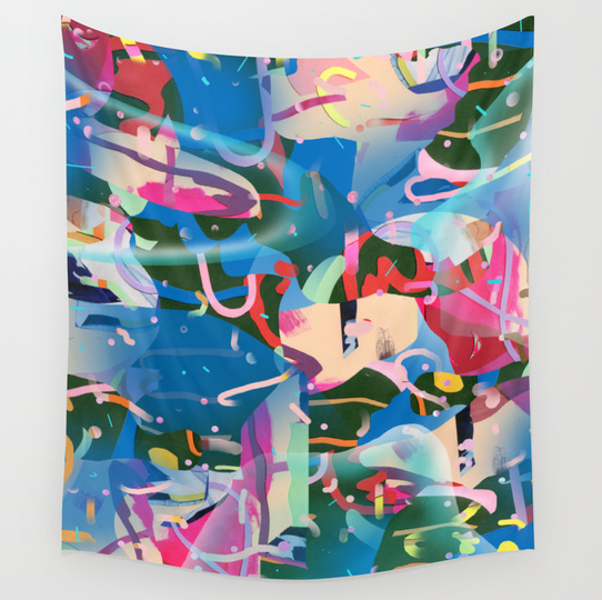 Soft Serve Camouflage Digital print on polyester 88 x 104 in.