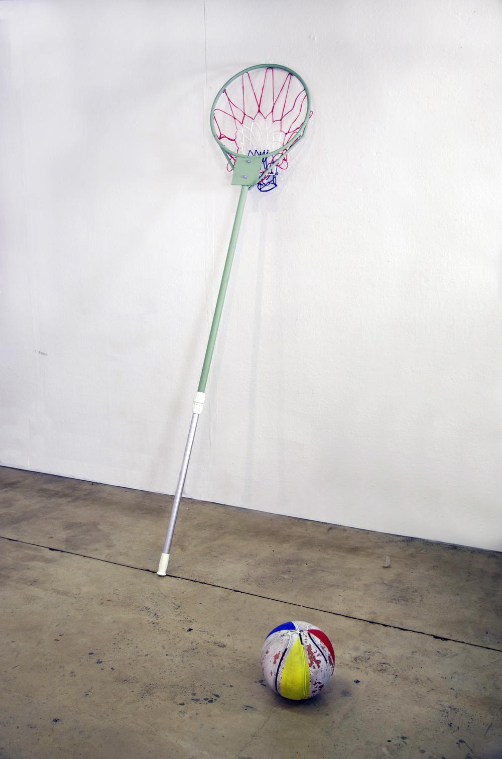 Skim  acrylic, steel, aluminum, found object