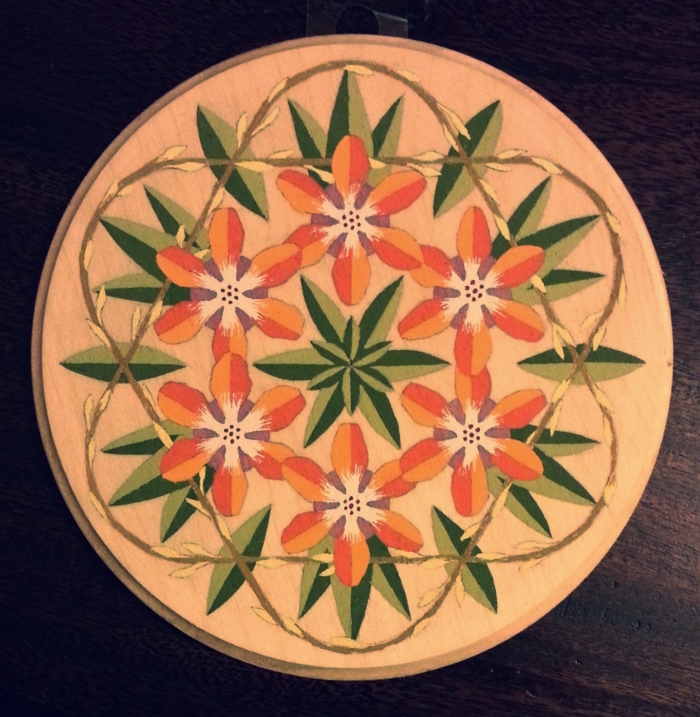 Hand-painted mandalas for sale in the shop!