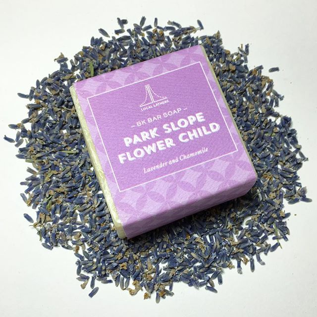 Winter wearing you down? Try #ParkSlopeFlowerChild with #lavender & #chamomile to soothe your senses and moisturize your skin 🛁 . . . #locallathers #parkslope #brooklyn #madeinbrooklyn #handmadebarsoap #natural #beauty #soap #bath #body #clean #skincare #naturalskincare