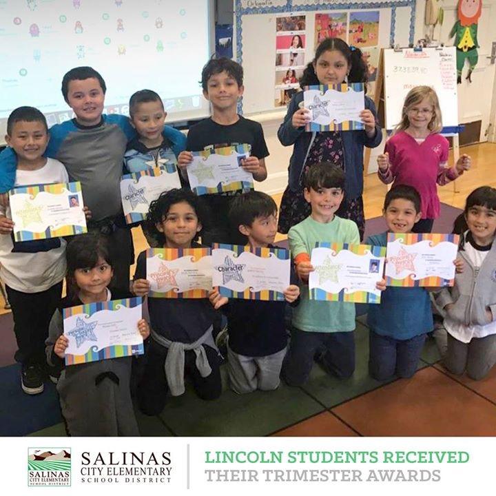 trimester awards at lincoln elementary salinas city elementary