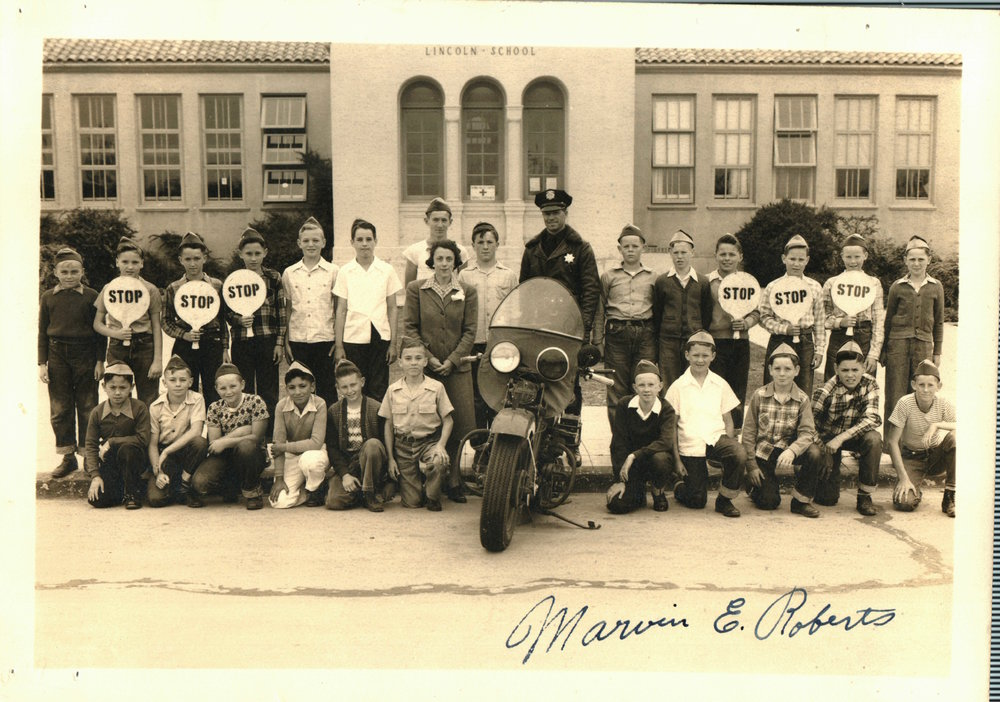 1941-Traffic Patrol at Lincoln School.JPG