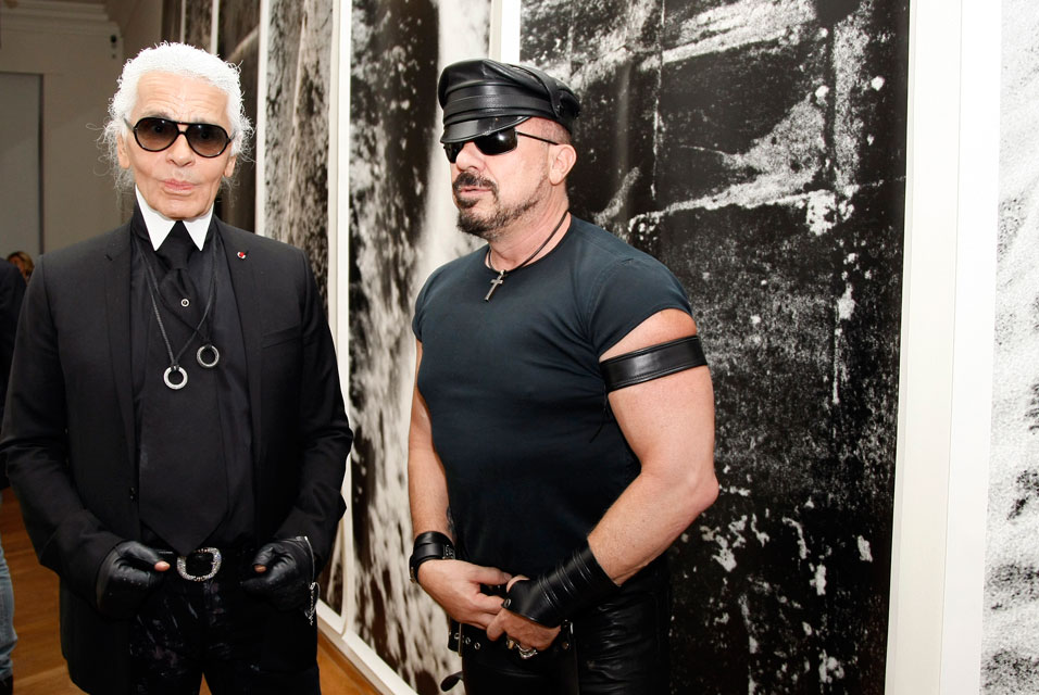 CHANEL Global Architect Peter Marino with Karl Lagerfeld, CHANEL Creative Director. Source: Wireimage