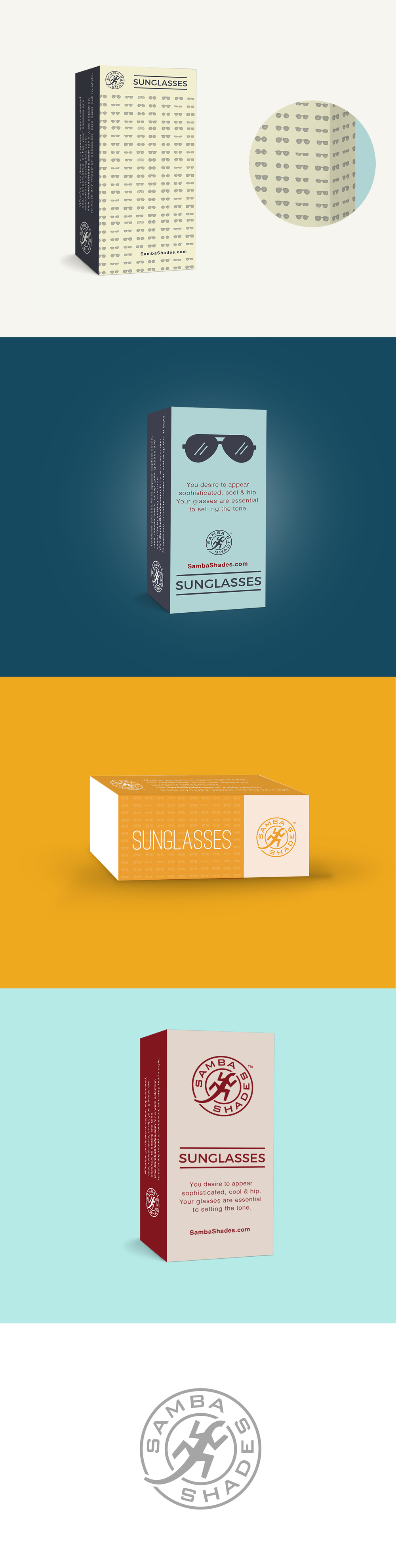 Fun graphic design project for a sunglasses company that needed packaging creative conceptualized and brought to life.