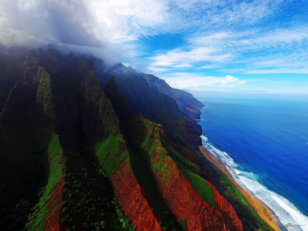 "KAUAI 3 DAYS Kauai is among the most exceptional islands in the world. ""She"" has the distinction of offering a large variety of incredible landscapes. Keep your eyes open !   Program :  - Hike the majestic Na Pali Coast - Sleep at the top of Waimea Canyon - Waterfalls - Beauty of Hanalei Bay Click here to see all the details of the trip."